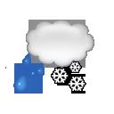 Couvert et neige fondue