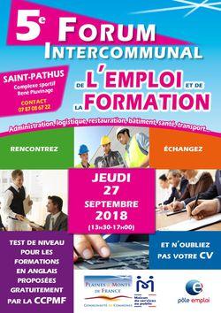 5 ème FORUM INTERCOMMUNAL DE L'EMPLOI ET DE LA FORMATION