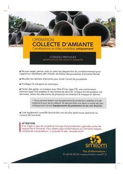 OPÉRATION COLLECTE D'AMIANTE
