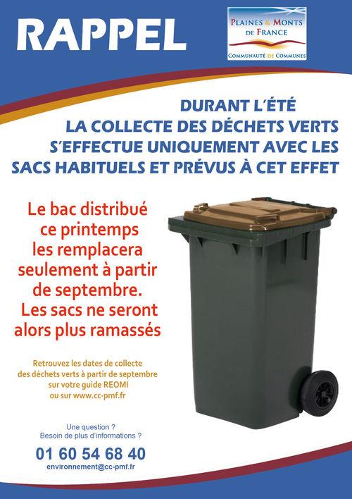 Le Ramassage des déchets verts