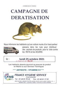 CAMPAGNE DE DÉRATISATION